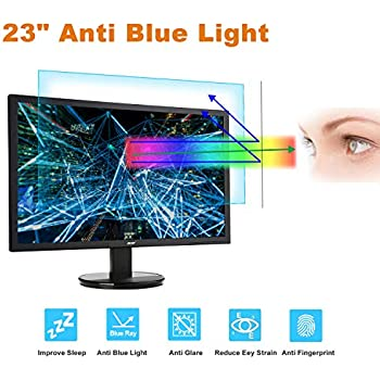 23 Inch Monitor Screen Protector -Blue Light Filter, Eye Protection Blue Light Blocking Anti Glare Screen Protector for Diagonal 23