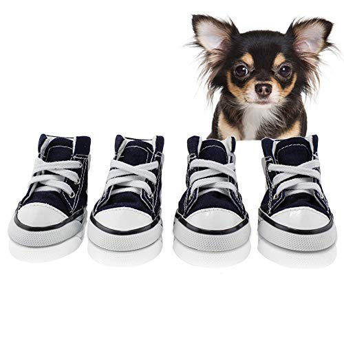 abcGoodefg Pet Dog Puppy Canvas Sport Shoes Sneaker Boots, Outdoor Nonslip Causal Shoes, Rubber Sole+Soft Cotton Inner Fabric (#5(1.892.36), - Sneakers Dog