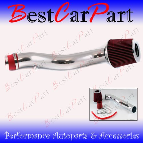 88 89 90 91 Honda Civic CRX Si Ex Short Ram Intake Red (Included Air Filter) #Sr-hd001r ()