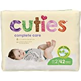 Cuties Complete Care Baby Diapers, Size 2, 40 Count