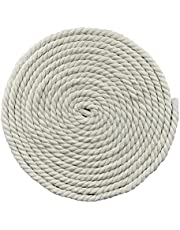 """Saundra Peal 100% Twisted Cotton Rope 1/2"""" 25 Feet(1/2"""" x25'-Natural)"""