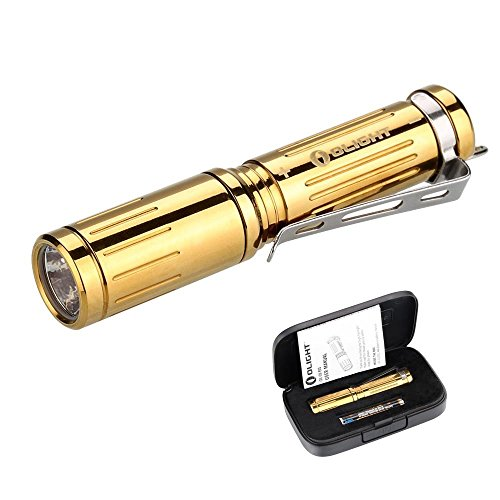 Olight-Mini-EDC-Keychain-AAA-Flashlight-180-Lumens-i3S-Brass-EOS-Cree-XP-L-LED-Beautiful-Tiny-Flashlight-for-Jogging-Biking-Camping-Hiking-Hunting-Backpacking-Night-Fishing-Riding-BBQ-Blackouts-Emerge