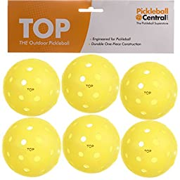 TOP ball (The Outdoor Pickleball) -6 count yellow