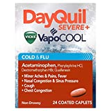 Vicks DayQuil Severe Cold and Flu Relief Caplets, 24 Count