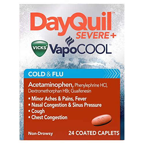 DayQuil Severe with Vicks VapoCOOL Cold & Flu Relief Caplets - Acetaminophen - 24ct