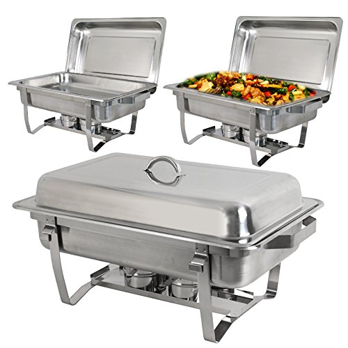 Super Deal Stainless Steel 4 Pack 8 Qt Chafer Dish w/Legs Complete, 4 Pack (pack of 4) by SUPER DEAL (Image #8)