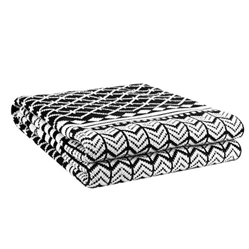 Snugtown 100% Cotton Cable Knit Double Layer Warm Cozy Throw Blanket,Home Decorative Blanket Throw for Couch Chairs Bed 50
