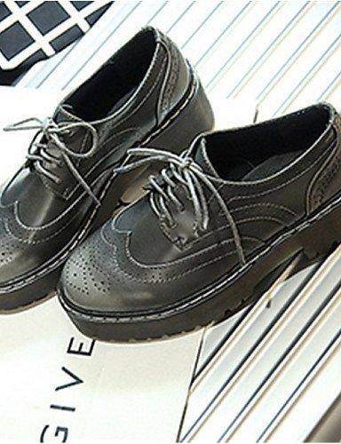 Gray Cn35 Uk6 Cn39 Burgundy Zapatos Plataforma us5 Oxfords De Uk3 Gris Casual 5 us8 Zq Bermellón Eu36 Semicuero 5 Redonda Mujer Eu39 Punta B6aPxTTwqZ