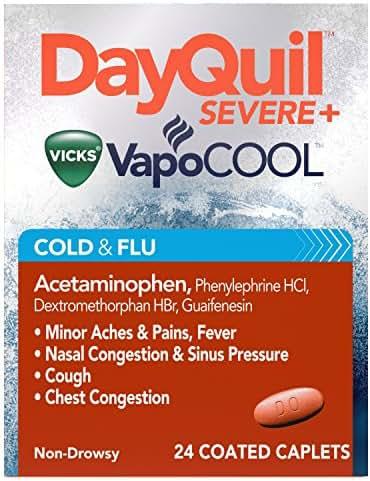 Cold & Flu: DayQuil Severe Vicks VapoCOOL Caplets