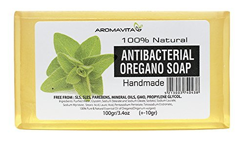 Antibacterial Oregano Oil Soap , Natural Soap For Athletes Foot , Jock Itch And Odors , Helps Cleanse the Skin , Nail Fungus, Ringworm , Acne and Other Unwanted Skin Irritations by Aromavita