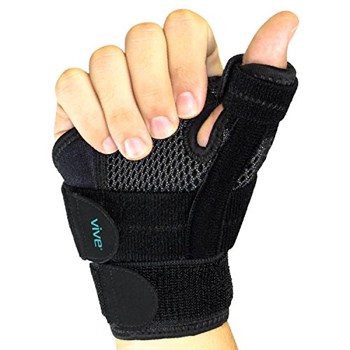 Vive Arthritis Thumb Splint - Thumb Spica Support Brace for Pain, Sprains, Strains, Arthritis, Carpal Tunnel & Trigger Thumb Immobilizer - Wrist Strap - Left or Right Hand