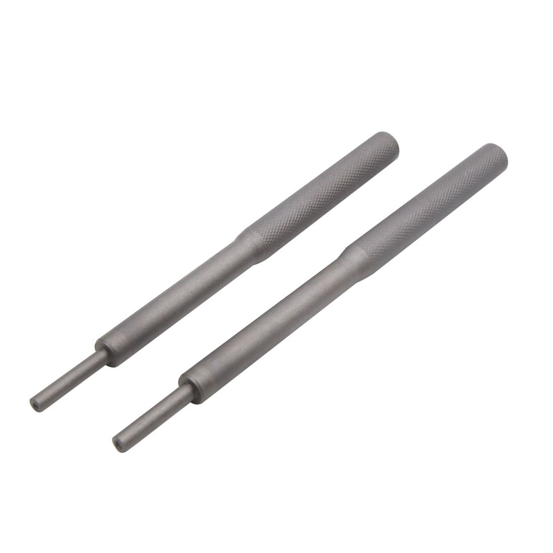 uxcell 2pcs Universal Metal Valve Guide Remover Grinding Stick Tool Dark Gray for Car