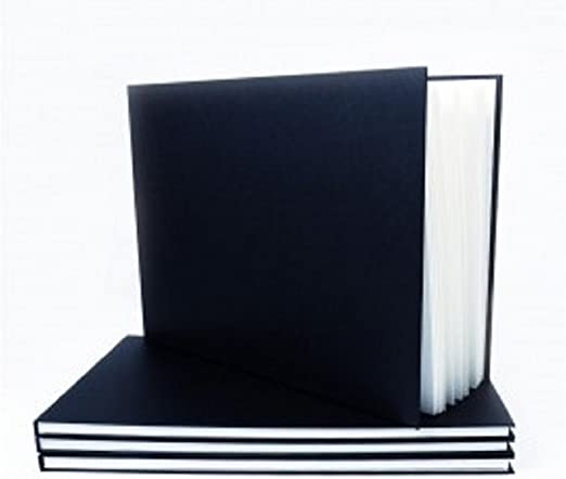 Seawhite Black Cloth Cover Sketchbook 140gsm Landscape A4