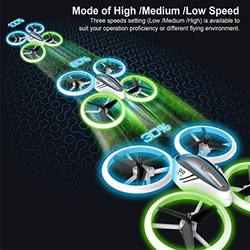 Q9s Drones for Kids,RC Drone with Altitude Hold and Headless Mode,Quadcopter with Blue&Green Light,Propeller Full Protect,2 Batteries and Remote Control,Easy to Fly Kids Gifts Toys for Boys and Girls 51Vp Sqze2L