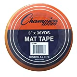 Champion Sports Wrestling and Gymnastic Floor Mat Clear Tape - Multiple Widths and Lengths