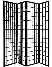 Oriental Furniture Asian Furniture, 6-Feet Window Pane Japanese Shoji Privacy Screen Room Divider, 4 Panel