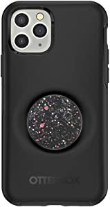 Otter + Pop for iPhone 11 Pro: OtterBox Symmetry Series Case with PopSockets Swappable PopTop - Black and Sparkle Black