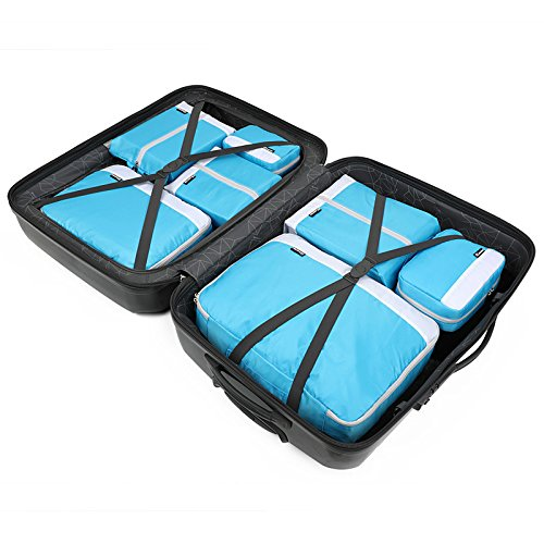 Storage Bag Light Weight 7 Pieces for Convenient Traveling JWI Luggage Storage Bag Color : Green