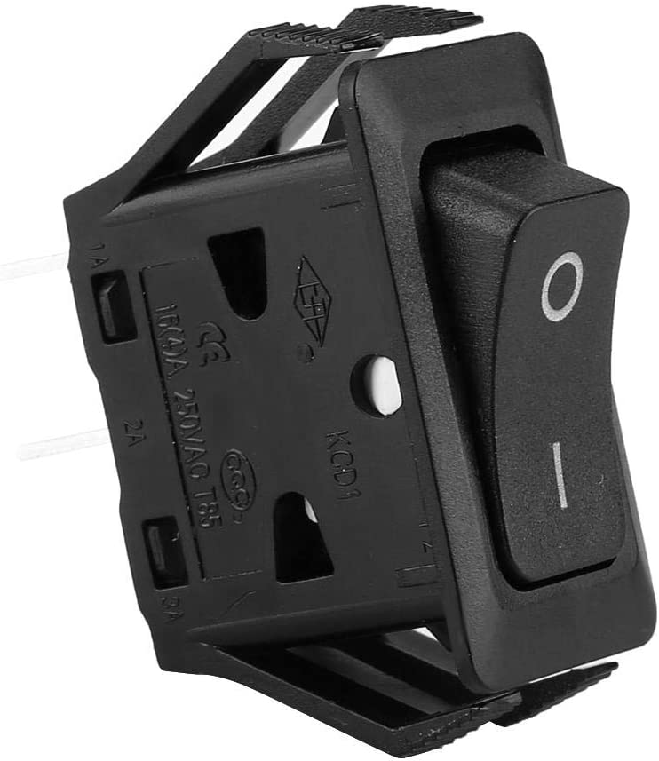 Latching Rocker Switch Panel Mount Connect Through 250in Push-in Socket Nylon 6.6 Case IP40 DPST Aramox Double Pole Single Throw