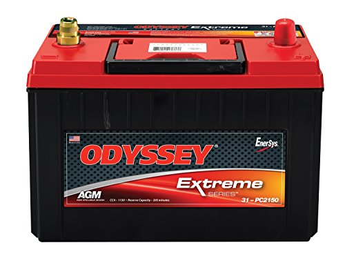 Odyssey Battery 31-PC2150T Automotive Battery Group 31A 2150 PHCA 1150 CCA 1150 MCA RC Min. 205 L-13.00 in. W-6.8 in. H-9.41 in. w/Brass SAE Auto Posts Automotive Battery