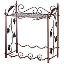 Creative Wrought Iron Wine Rack / European Red Wine Cup Upside Down Retro Home Living Room Coffee Table Wine Cooler / Wine Bottle Rack L40CM * W25.5CM * H41.5CM