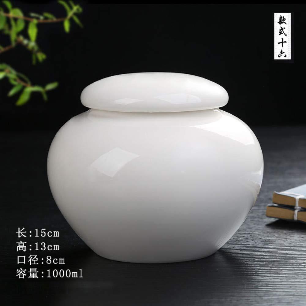 A Winpavo Urn Cremation Keepsake Ashes Urns  Pet Casket Cat Dog Cremation Jar Traditional Handmade White Porcelain Ash, A