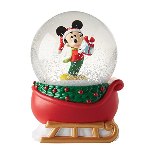 - Department 56 Disney Mickey on a Sleigh Waterball Snowglobe