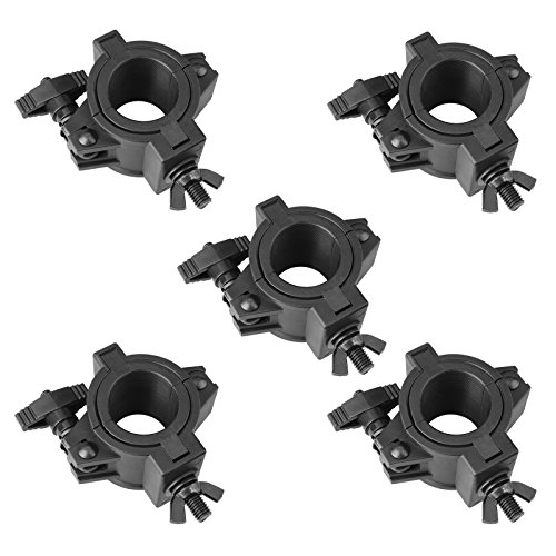 mountain ark 5 Pack 33lb Stage Light Clamps for DJ Lighting Products Par Light Plastic O Clamp Fit 3 Size Pipe Diameter: 25mm 36mm 48mm