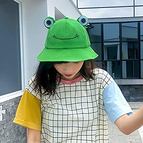 NIBA Cute Frog Bucket Hat,Bucket Hut Unisex Fischerhut Cap Frosch Eimerhut Beckenhut Damenm/ütze Outdoor Freizeithut Damenhut Outdoor Faltbarer Fischerhut f/ür Angeln Wandern Camping Frog Bucket Hat