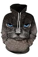 BLAU GRUN Unisex Simulation Printing Pockets Hooded Sweatshirt