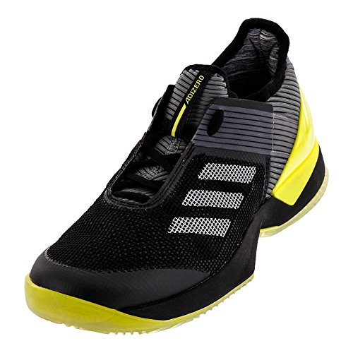 ADIDAS BY1618-F17 Women`s Adizero Ubersonic 3 Clay Tennis Shoes Core Black and Night Metallic