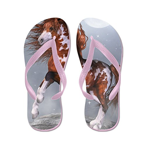 CafePress NH_60_Curtains_834_H_F - Flip Flops, Funny Thong Sandals, Beach Sandals Pink