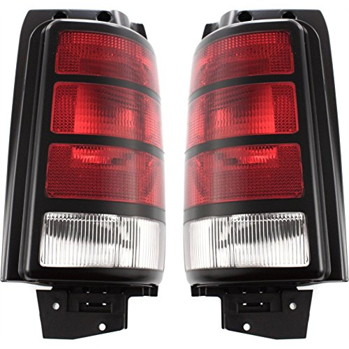 Evan-Fischer EVA15672055597 Tail Light for Dodge Caravan 91-95 Set of 2 RH and LH Lens and Housing Left Right Replaces Partslink# CH2800127, CH2801127 (1992 92 Dodge Grand Caravan)