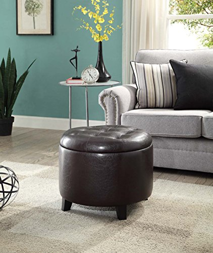Ottoman Accent Brown (Convenience Concepts 163060E Designs4Comfort Round Ottoman, Espresso)
