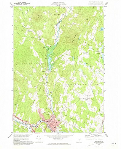 (Vermont Maps | 1968 Montpelier, VT USGS Historical Topographic Map | Cartography Wall Art | 35in x 44in)