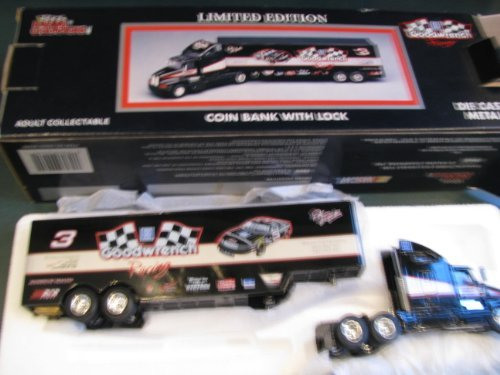 1994 Edition All Metal Dale Earnhardt Sr #3 Racing Champions Six Time Champion Diecast Bank Hauler Trailer Tractor Trailer Semi Truck Rig 1/64 Scale ()