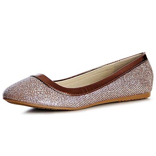 Topschuhe24 753 Brun Femmes Ballerines Chaussures r8XP8Tn