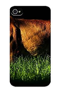 Inthebeauty Durable Defender Case For Iphone 4/4s Tpu Cover(animals Grass Sunlight Lions Wild Animals ) Best Gift Choice