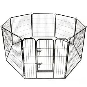 TRESKO® Parque para Mascotas Altura 100 cm | Valla para Perros y ...
