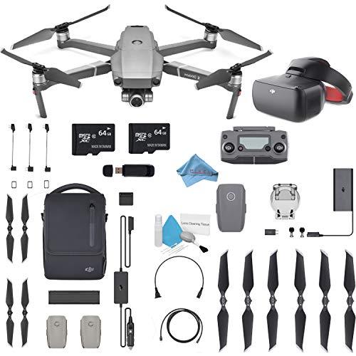 "DJI Mavic 2 Zoom Drone Quadcopter with 24-48mm Optical Zoom Camera Video UAV 12MP 1/2.3"" CMOS Sensor (US Version) Flymore FPV Bundle"