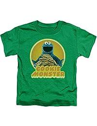 Sesame Street TV Show Cookie Monster Iron-On Little Boys Toddler T-Shirt Tee