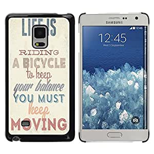 Dragon Case - FOR Samsung Galaxy Mega 5.8 - life is like riding - Caja protectora de pl??stico duro de la cubierta Dise?¡Ào Slim Fit