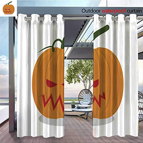 QianHe Patio Curtains Scary-Pumpkins-for-Halloween-Terrible-Holiday-Symbol.jpg Outdoor Curtain for Patio,Outdoor Patio Curtains W96 x L84(245cm x 214cm) ()