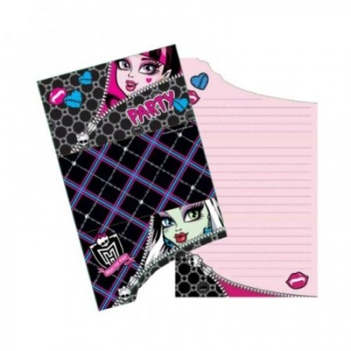 Monster High 6 Pack Character Party Invitations