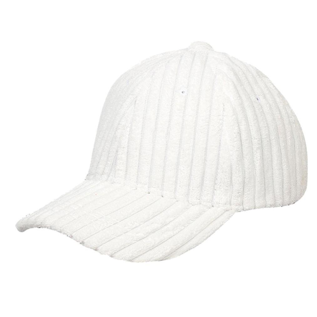 ホワイト B07G2WXGKDユニセックスベースボールキャップBinmerレディースメンズコーデュロイ調節可能カジュアル帽子Bunスナップバック帽子Sunキャップ B07G2WXGKD ホワイト, ナジェール:13975770 --- itxassou.fr
