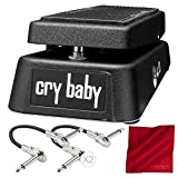 Dunlop GCB95 Cry Baby Wah Guitar Effects Pedal with Accessory Bundle
