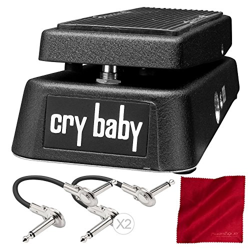 Dunlop GCB95 Cry Baby Wah Guitar Effects Pedal with Accessory Bundle by Dunlop