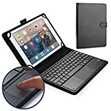 Cooper TOUCHPAD Executive Keyboard case Compatible with Samsung Galaxy Tab 4 10.1 | 2-in-1 Bluetooth Wireless Keyboard with Touchpad & Leather Folio Cover | Touchpad Mouse (Black)