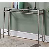Convenience Concepts 227899S Gold Coast Julia Console Table, Silver