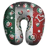 U Neck Pillow Airplane Office Travel Rest Mexican Water Droplets Memory Foam U Shape Pillow